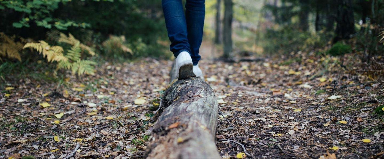 Wandelen tijdens vitaliteitstherapie met vitaliteitsprofessional Christi